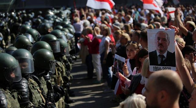 Belarustaki protestolarda 114 kişi gözaltına alındı