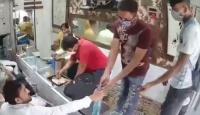 Hindistan'da koronavirüs tedbirlerine uygun soygun kamerada