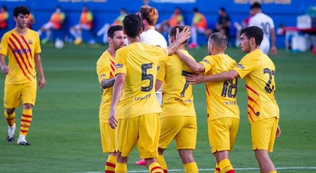 Barcelonada kriz sonrası Messi sahada