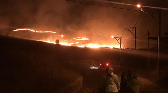 Gökçeadada mera yangını kontrol altına alındı