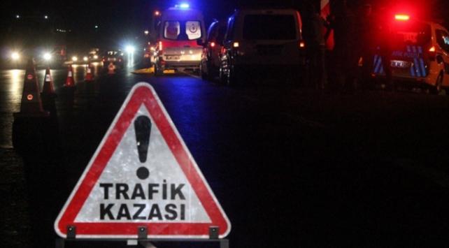 Aksarayda otomobil kanala düştü: 1 ölü