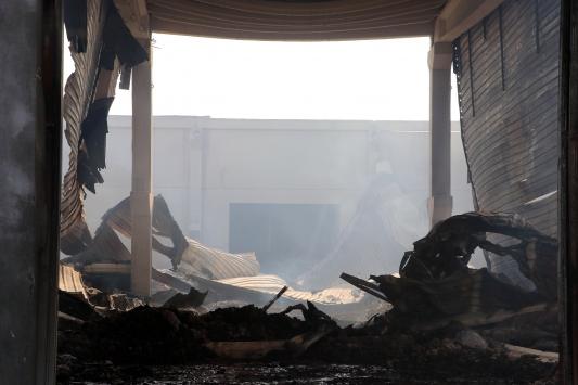 Kahramanmaraştaki fabrikada dünden bu yana süren yangın söndürüldü