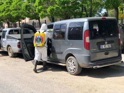 Edirne Süloğlunda özel araçlar ücretsiz dezenfekte ediliyor