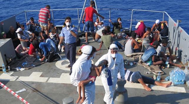 TCG Bozcaada, Lübnan açıklarındaki göçmenleri ölümden kurtardı
