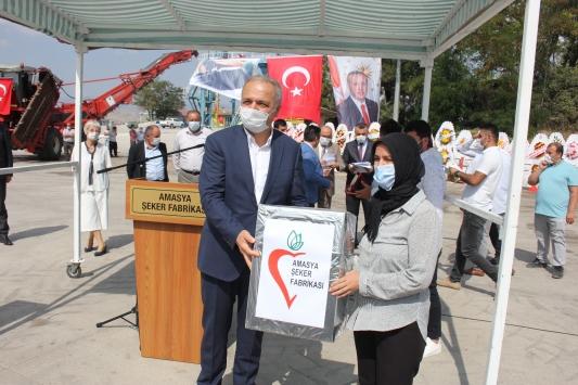 Amasya Şeker Fabrikasında 67. pancar alım kampanyası başladı