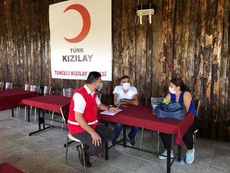 Türk Kızılay Tuncelide 5 ayda 14 bin 300 kişiye yardım ulaştırdı