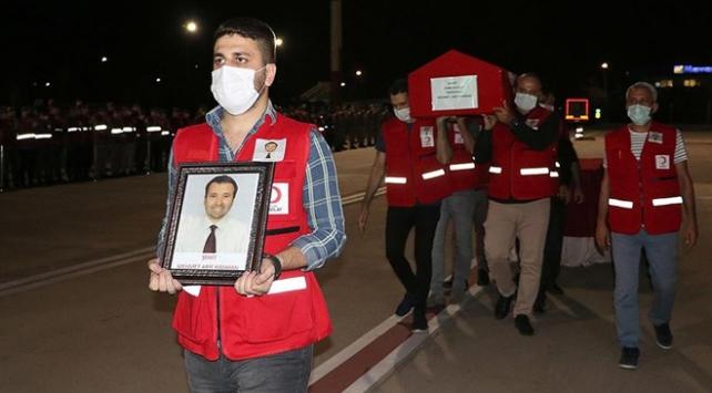Şehit Türk Kızılay personelinin cenazesi memleketine uğurlandı