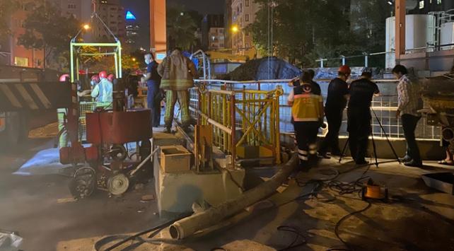 Göztepe metro inşaatında kaza: 2 yaralı