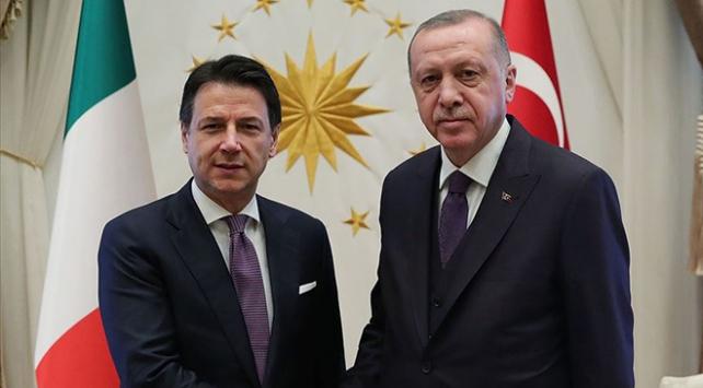 Cumhurbaşkanı Erdoğan, İtalya Başbakanı Conte ile görüştü