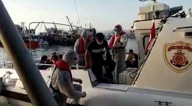 İzmirde 48 düzensiz göçmen kurtarıldı