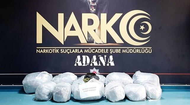 Adanada şüpheli tırdan 46 kilo esrar çıktı