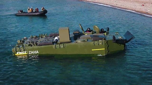 Zırhlı Amfibi Hücum Aracı testleri başarıyla geçiyor