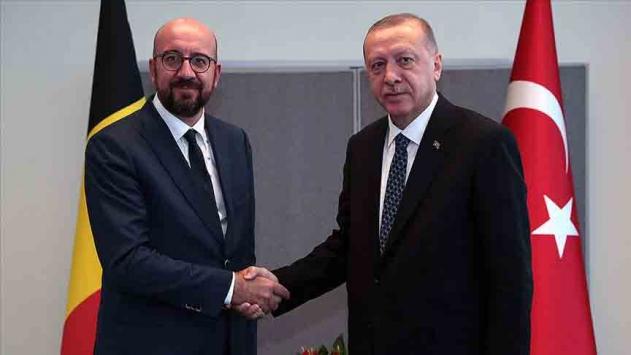 Cumhurbaşkanı Erdoğan, AB Konseyi Başkanı Michel ile görüştü