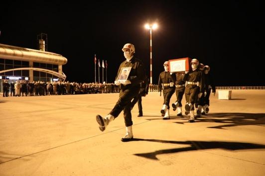 Irakın kuzeyinde şehit olan Teğmen Harun Aslanın cenazesi memleketi Ağrıya getirildi