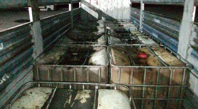 Niğdede 10 ton kaçak akaryakıt ele geçirildi: 2 gözaltı