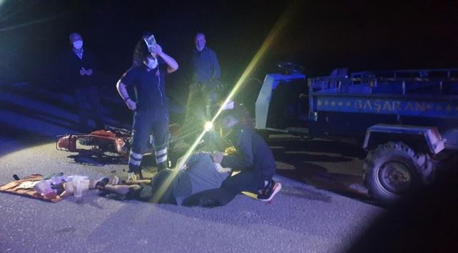 Düzcede patpat ile motosiklet çarpıştı: 3 ağır yaralı