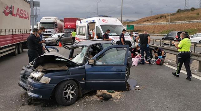 Anadolu Otoyolunda kaza: 1 ölü, 4 yaralı