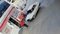 Veresiye yakıt vermeyen istasyon görevlisini böyle ezdi