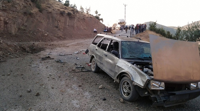 Siirtte teröristlerce yola patlayıcı tuzaklandı