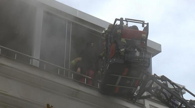 İstanbulda patlayan çamaşır makinesi yangın çıkardı