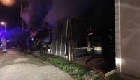 Düzce'de ardiye yangını