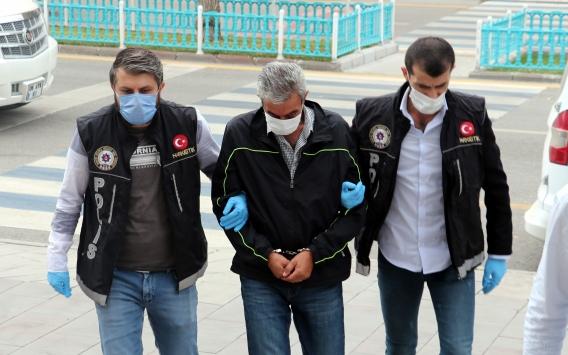 Erzurumda aracında 61 kilo 750 gram eroin bulunan emekli polis adliyeye sevk edildi