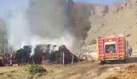 Ağrı'da 50 ton ot ve saman yandı