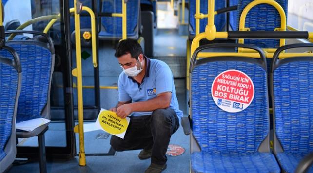 Ankarada toplu taşıma araçlarında sosyal mesafe uygulaması