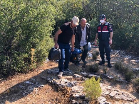 Muğlada kaçak kazı yapan 4 şüpheli yakalandı