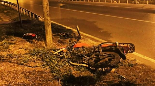 Samsunda motosiklet kazası: 1 ölü