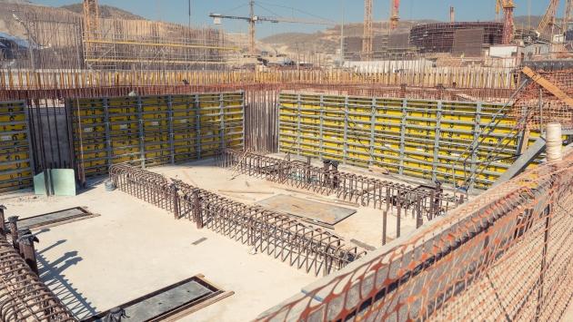 Akkuyunun ikinci ünitesinde reaktör ve türbin binalarının temeli atıldı