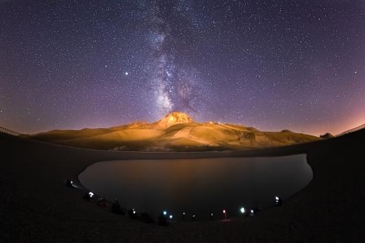 Gökyüzü meraklıları yıldızları fotoğraflamak için Erciyeste buluşuyor