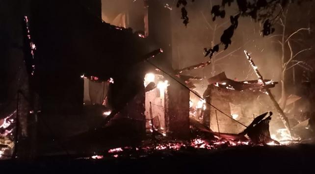 Artvinde yangın: 3 ev, 1 ahır ve 1 samanlık kül oldu