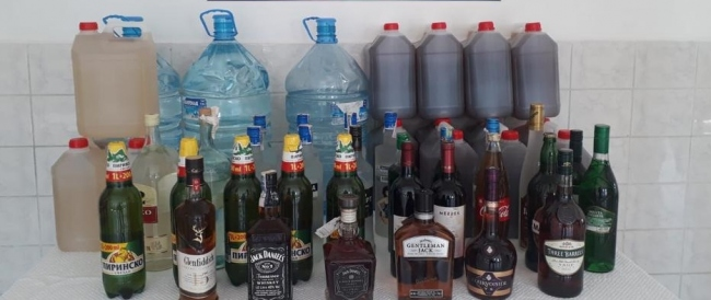 Tekirdağda 751 litre sahte ve kaçak içki ele geçirildi