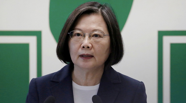 Tayvan liderinden Çine askeri tatbikat tepkisi