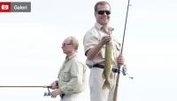 Medvedev, Putin'den Daha Büyük Balık Tuttu