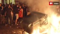Almanya'da Gençler Polisle Çatıştı