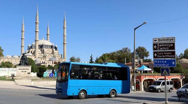 Edirnede 65 yaş ve üstü vatandaşlara ücretsiz toplu ulaşım kısıtlaması