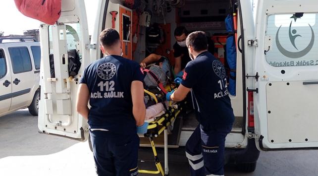 Tekirdağda yüksekten düşen işçi yaralandı