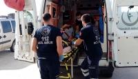 Tekirdağ'da yüksekten düşen işçi yaralandı