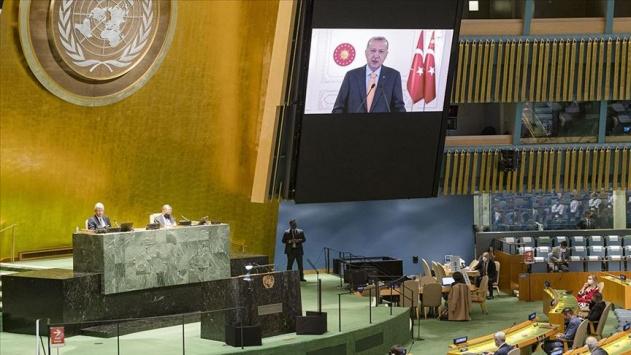 Erdoğanın sözleri BMde İsrail Büyükelçisine salonu terk ettirdi