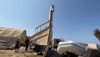 Tek bir çivi kullanılmadan inşa edilen 2800 yıllık tekne ekim ayında denize indirilecek
