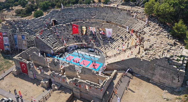 Patara Antik Kenti spor etkinliklerine sahne oldu