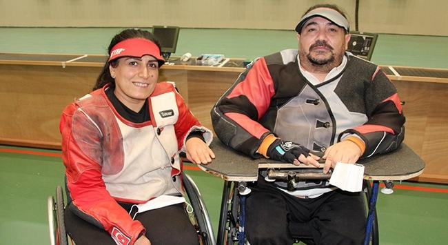 Engelli sporcu çift Tokyo Paralimpik Oyunlarına birlikte hazırlanıyor