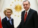 Cumhurbaşkanı Erdoğan AB Komisyon Başkanı Leyen ile görüştü