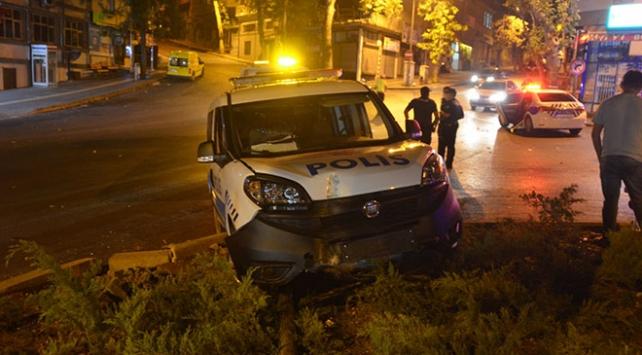 Kahramanmaraşta kaza: 2 polis yaralandı