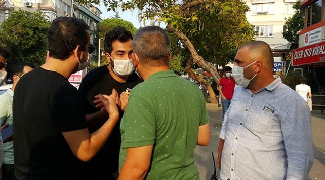 Polis maske verdi, 5 dakika sonra yine maskesiz yakalandı