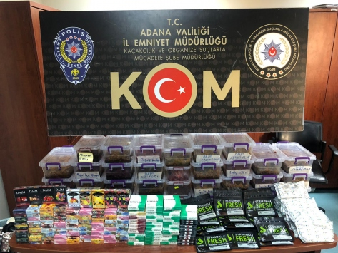 Adanada kaçakçılık ve sahte içki operasyonunda 3 kişi yakalandı