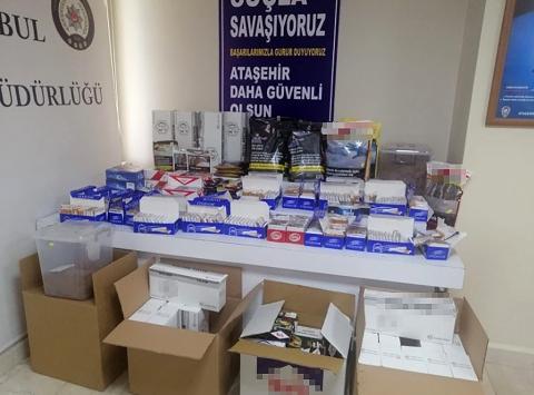 Ataşehirde sigara kaçakçılığı operasyonu