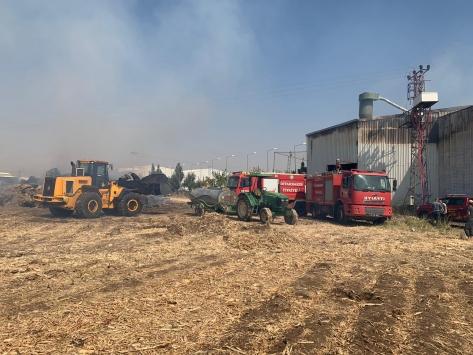 Diyarbakırda fabrikada yangın çıktı